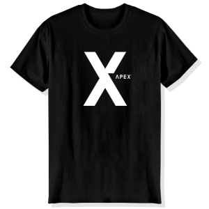 T-Shirt Apex: Black X