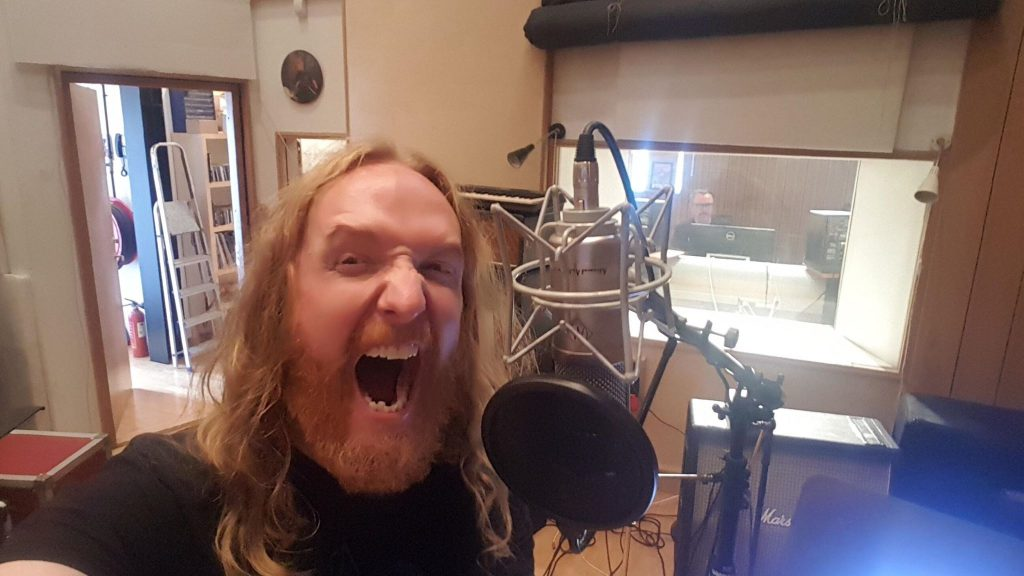 mikael stanne recording The Moor's upcoming album vocals
